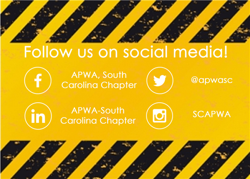 Join in the conversation about all things public works on SC APWA's social media sites.