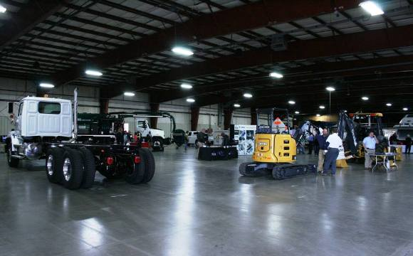 Trucks and Backhoes on display at the Fall Equipment Show in Columbia, SC!
