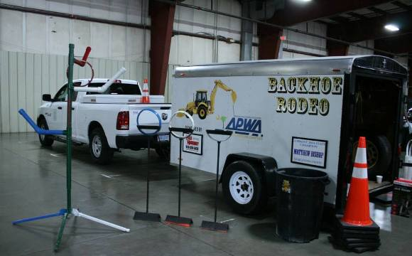 SC APWA's Backhoe Rodeo Trailer on display at the Fall Equipment Show. The show was held at the SC State Fairgrounds and was attended by public works professionals from across the state.