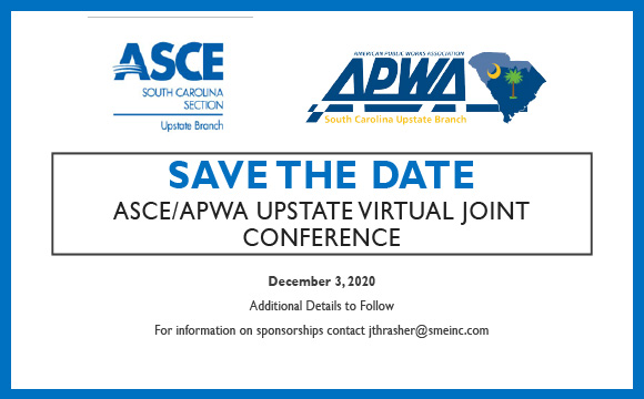 Upstate Branches of APWA and ASCE are hosting their annual conference virtually.
