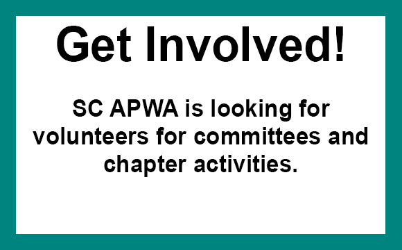 SC APWA thrives on our volunteers. We need your help!